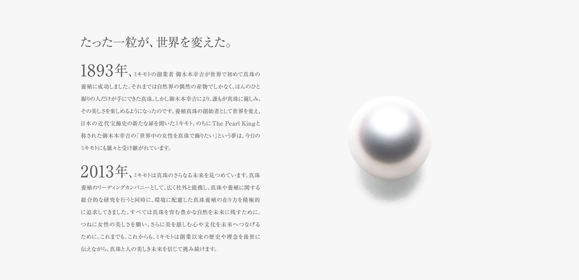Catalog commemorating the 120th anniversary of the invention of Mikimoto pearls1枚目