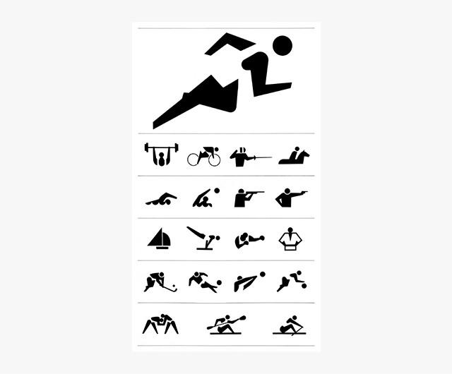 \u002764 東京オリンピック 競技シンボル、入場券