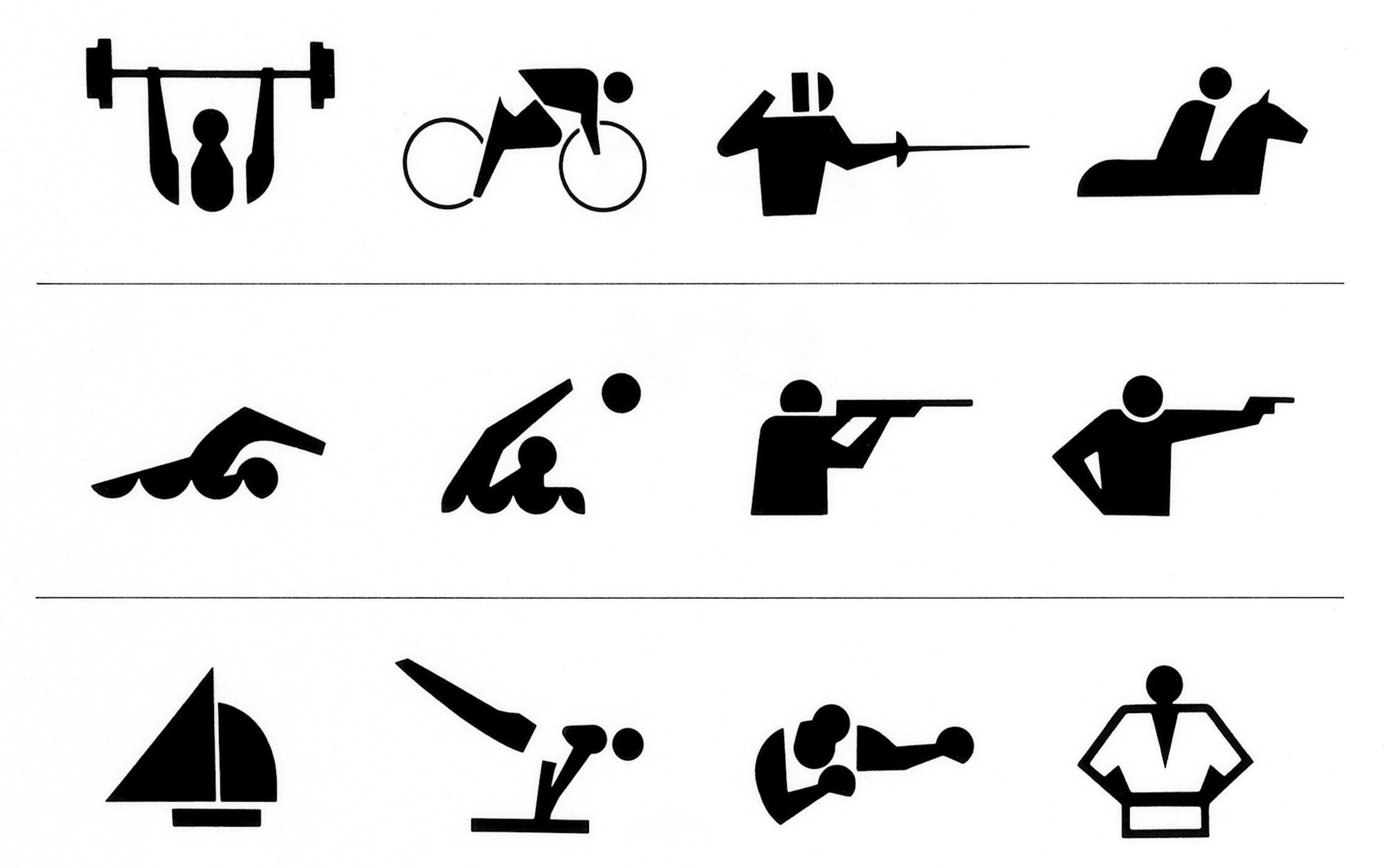 '64 東京オリンピック 競技シンボル、入場券