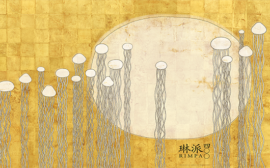 """Kurage-zu (A picture of jellyfish)"" for 21st Century Rimpa Posters"