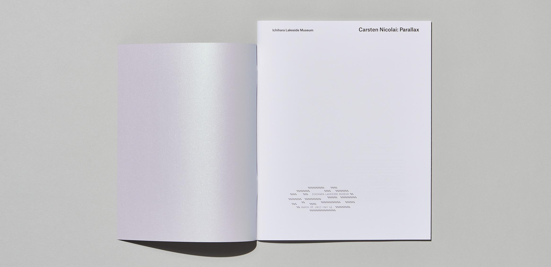 《Carsten Nicolai: Parallax》运用到展会产品目录1枚目