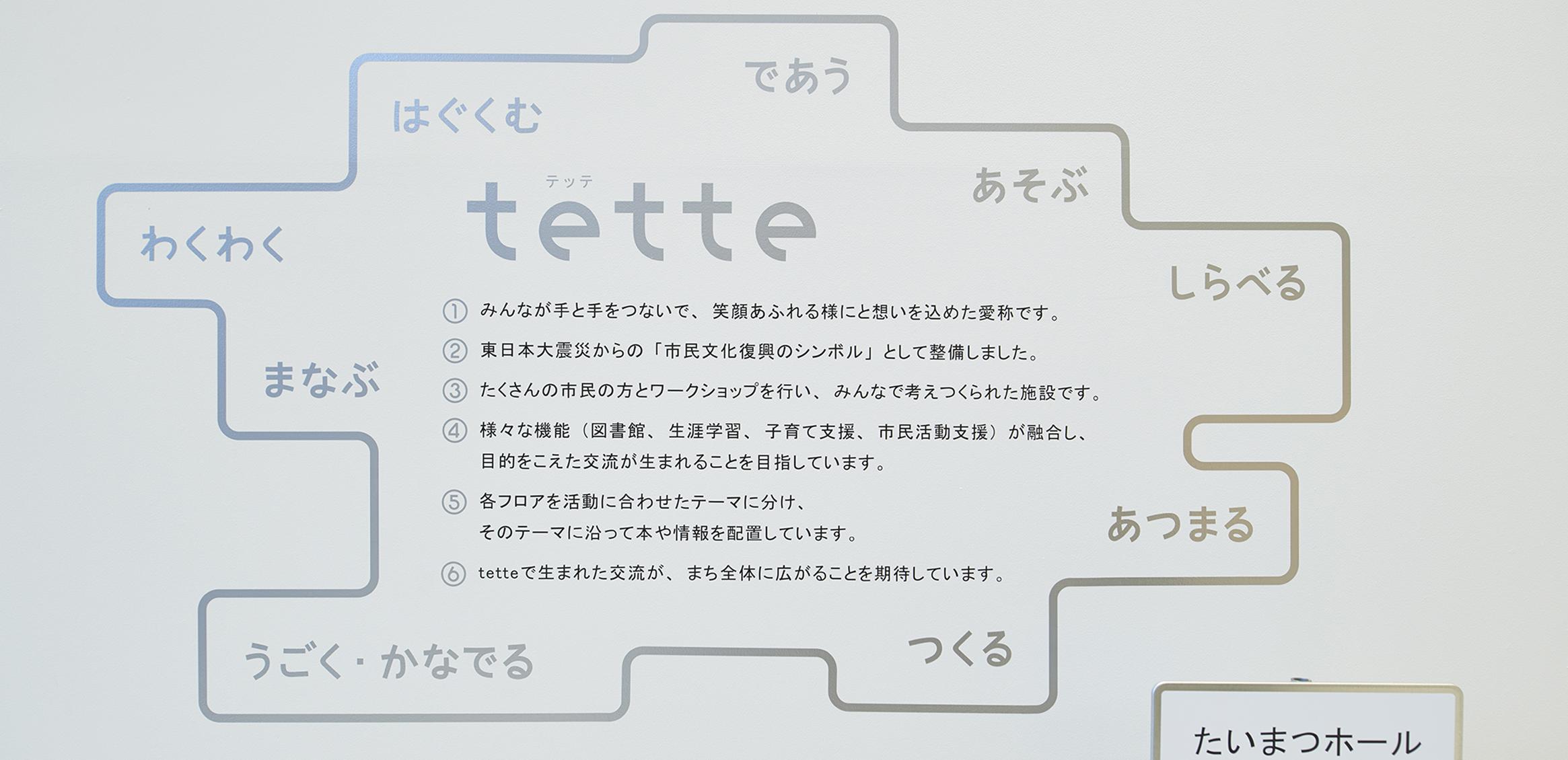 須賀川市民交流センターtette サイン計画2枚目